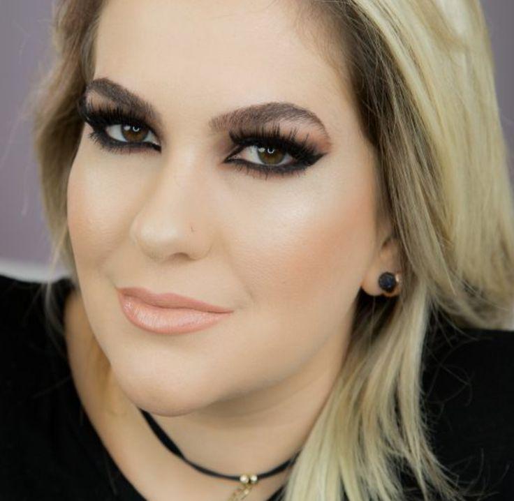 Alice Salazar ensina como fazer uma maquiagem para noite com um delineado nos olhos bem marcado, para um olhar super marcante