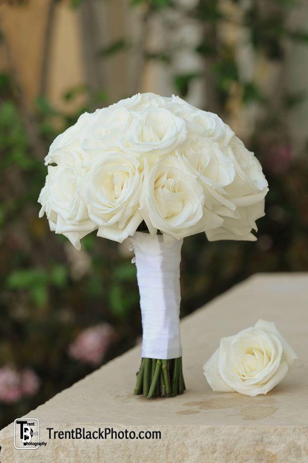 Enchanted Florist Las Vegas, White wedding bouquet, white roses