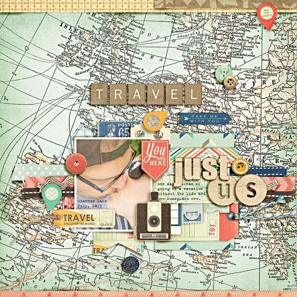 Travel scrapbook background