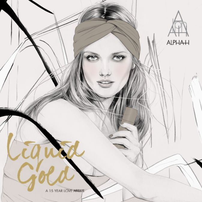 We are so delighted to have this custom illustration for our Liquid Gold 15 Year Love Affair by Birdy & Me - Illustrations by Kelly Smith #birdyandme #LiquidGoldLoveAffair