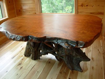 Redwood Dining Table   Beautiful In A Log Home