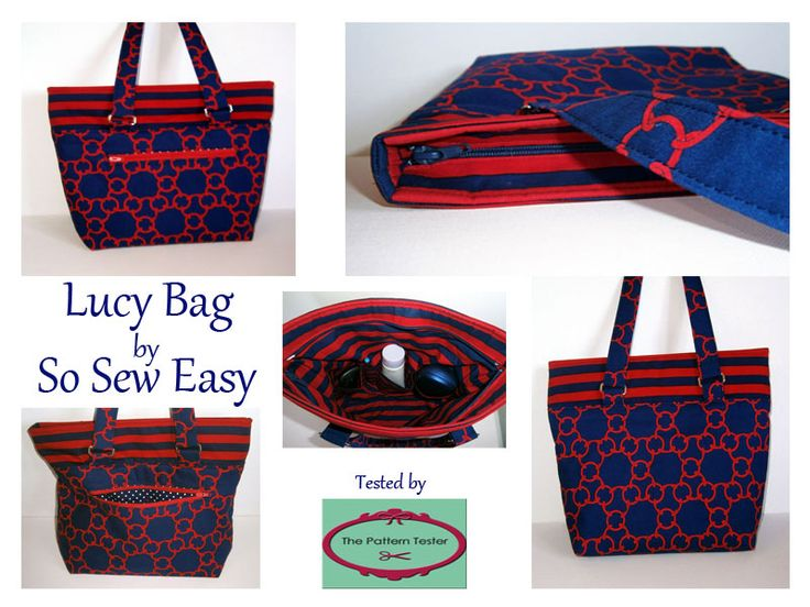 Lucy Tote Bag by So Sew Easy.  Tested by me, The Pattern Tester - www.thepatterntester.com.