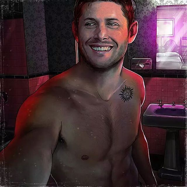 Dean, the day he got his tattoo (No reposting on Tumblr, please). #JensenAckles…