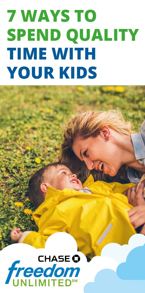 Is your busy schedule getting in the way of spending free time with your kids? Check out these 8 ideas for some extra quality time. Use your Chase Freedom Unlimited card to earn 1.5% cash back on everything you buy, like ice cream.