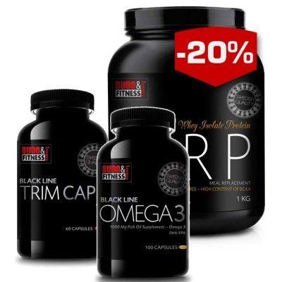 Budo & Fitness Black Line Håll formen paket är väl utvalda produkter för att hjälpa Dig optimera Din form. Vi har valt ut en god Måltidsersättare tillsammans med en effektiv Fetförbrännare och en hälsosam Omega 3.