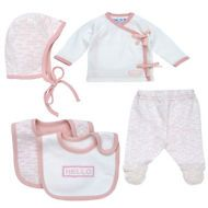 Under the Nile Welcome to the World  Gift Set Blush Pink Newborn 4 Pc. Set
