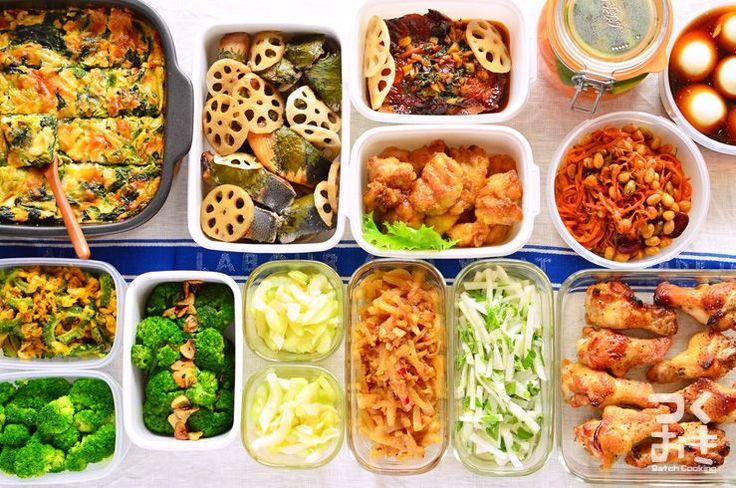 2015年3月第1週めの作り置き。調理時間150分で14品。使った食材から作ったおかず、1週間作り置きレシピを紹介します。