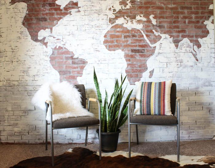 how to create a brick wall with paint