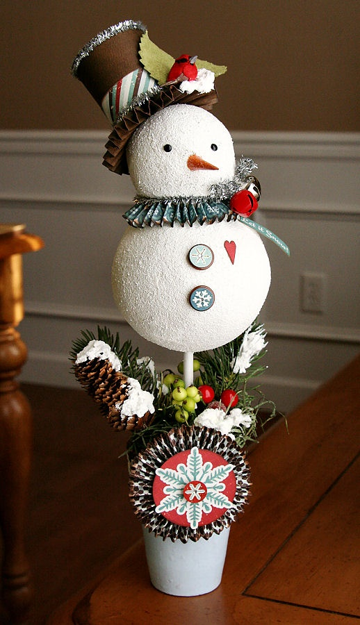 Glue Arts: Sweet Snowman Topiary