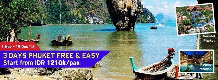 Yuk nikmati keindahan laut dari kepulauan Phuket.Kini telah kami sediakan paket 3 Hari Phuket Free & easy.Buruan booking paketnya sekarang juga dan dapatkan diskon spesialnya!  Dapatkan Special Paket tersebut dari #LiburYuk.com di http://liburyuk.com/promotional-package/book/66637013/3D2N-PHUKET-FREE-&-EASY #jalan2 #holiday #abbeytravel