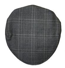 Dornoch Check Tweed Barnton Flat Cap Top