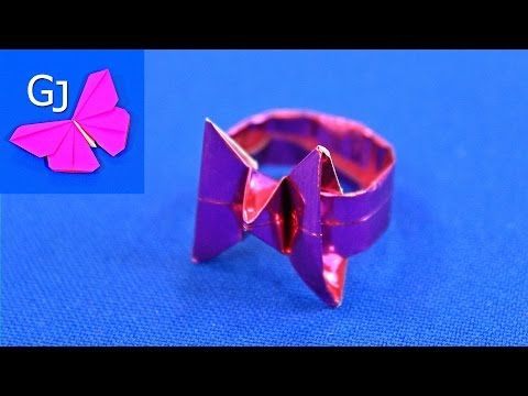 Оригами из бумаги   КОЛЬЦО БАБОЧКА   Своими руками - YouTube