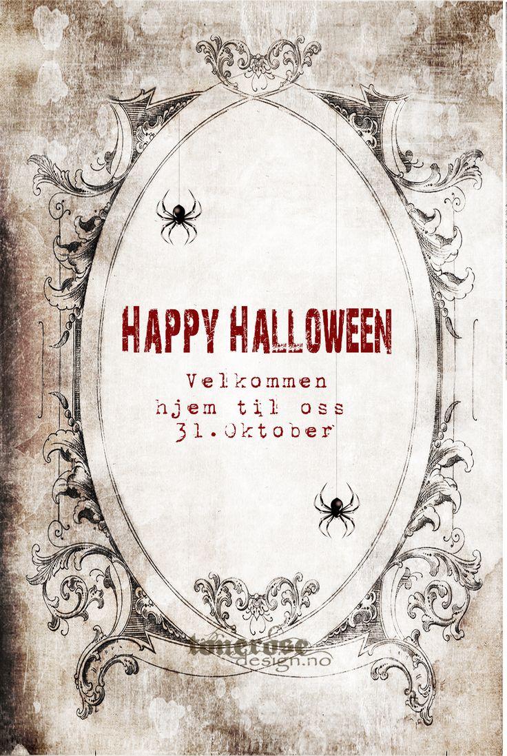 Gratis invitasjon halloween party! Printable på bloggen =)