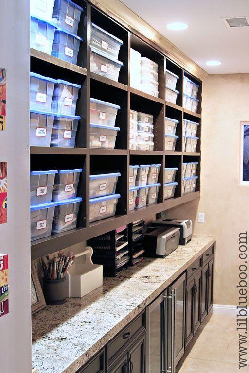 Art Studio Storage Ideas | Craft and Art Supply Storage (with free ... | Art Studio/Boutique Ide ...
