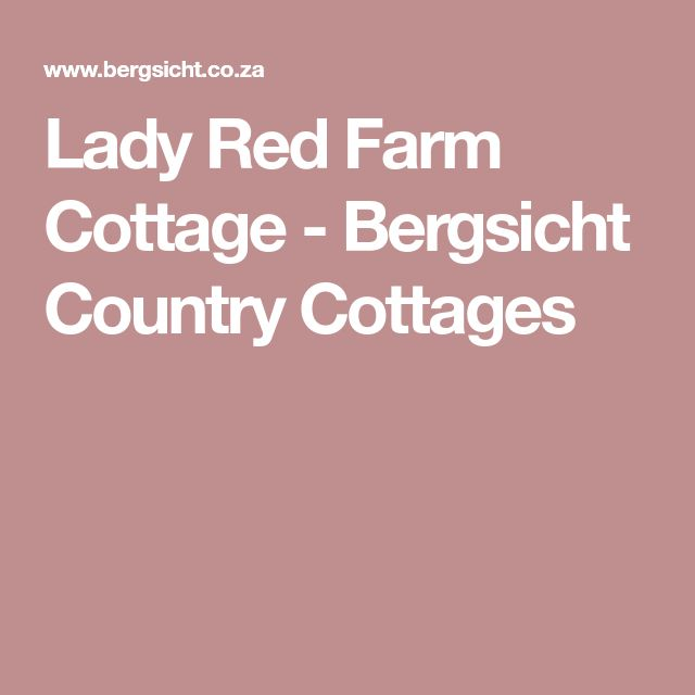 Lady Red Farm Cottage - Bergsicht Country Cottages