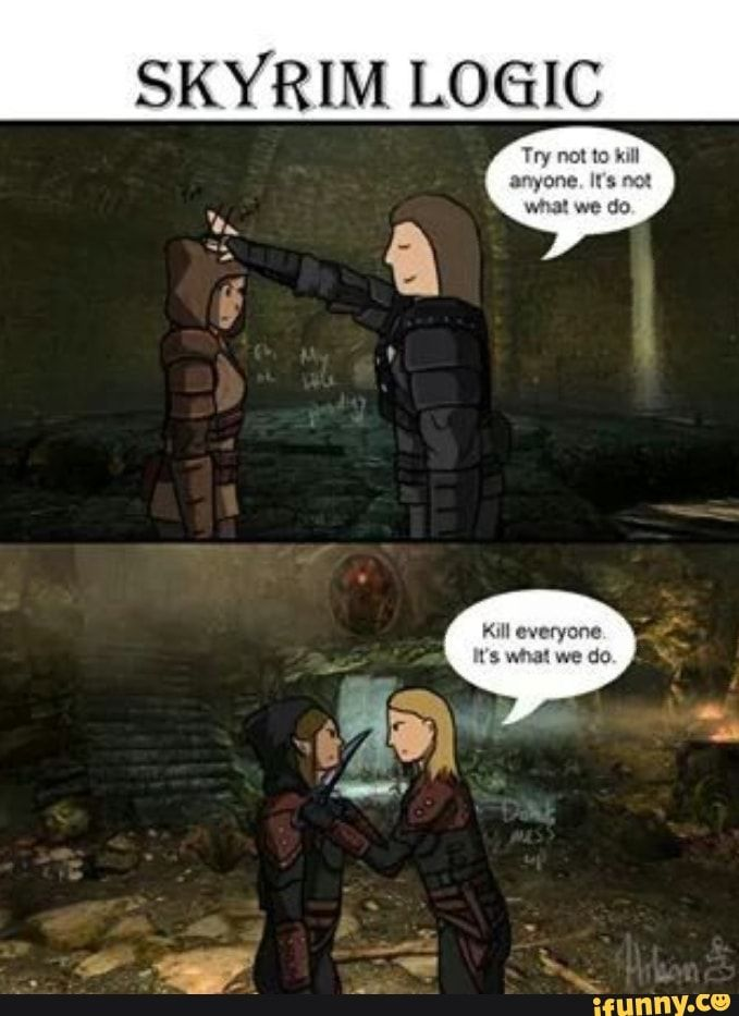 Skyrim Logic Ifunny Skyrim Funny Skyrim Comic Skyrim Memes