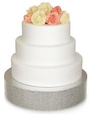 Wedding Cake Stand Silver Gold Rhinestone Bling Cake Drum Base