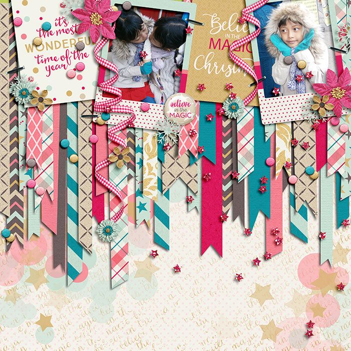 Believe in the Magic by Digital Scrapbook Ingredients & Tickled Pink Studio. A free template by Akizo Designs.