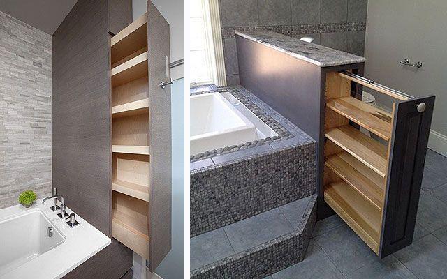 Ideas para almacenaje en baños