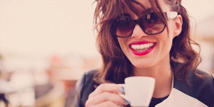 Coffee Girl Lipstick Laugh