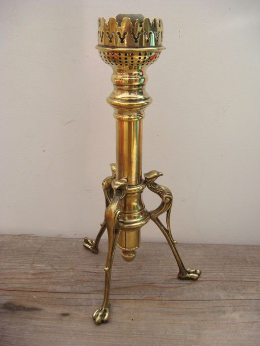 Antique bronze Chandelier, candlestick in system spring - Napoleon 3 19th century