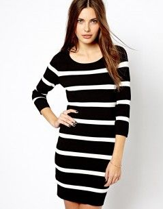 Mango Stripe Bodycon Dress