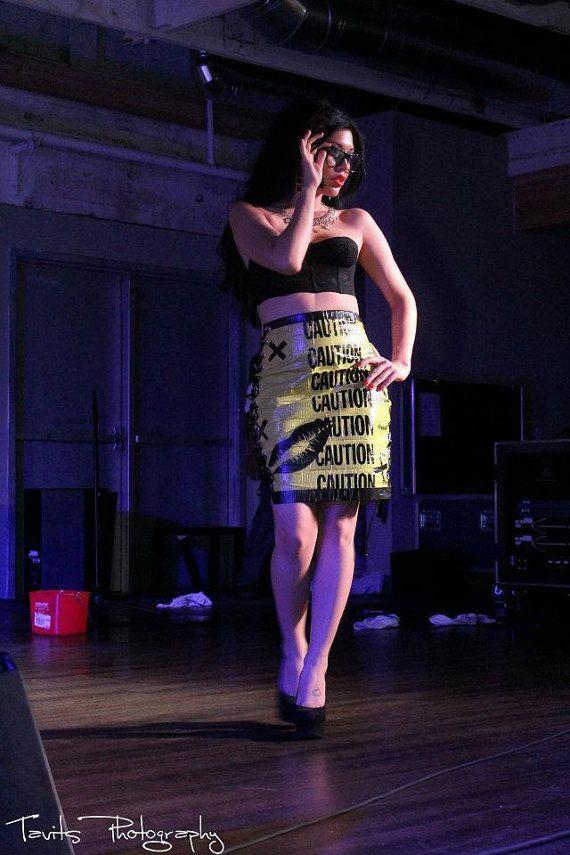 Caution Tape Pencil Skirt by Missconstrued on Etsy, $45.00: Tape Pencil, Caution Tape, 45 00, Etsy, Tape Skirt, Missconstrued Fashion, Awesome Caution, Pencil Skirts