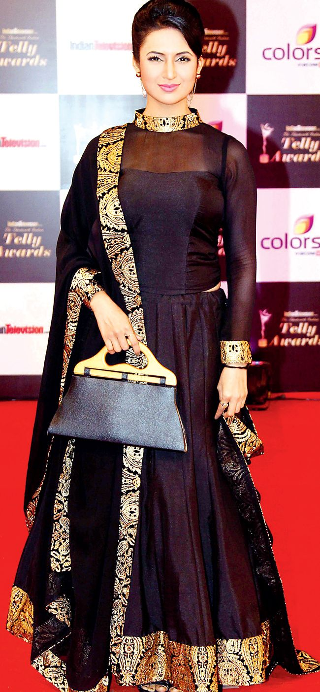 Divyanka Tripathi on the red carpet of 13th Indian Telly Awards.