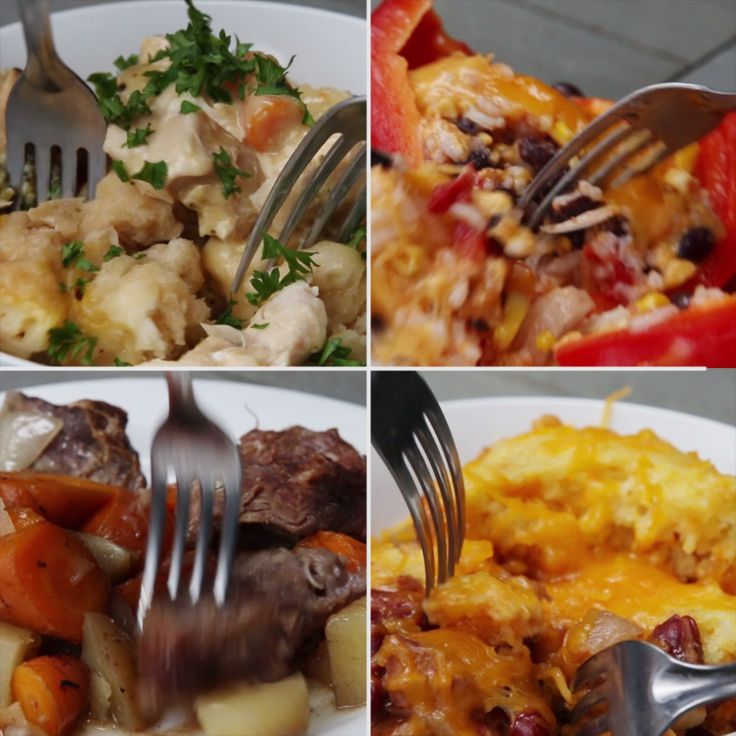 4 Easy Slow Cooker Dinners