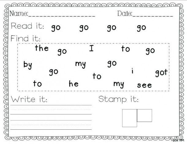Kindergarten Worksheets Sight Words List Sight Word Writing Practice Sight Words Kindergarten Sight Word Worksheets