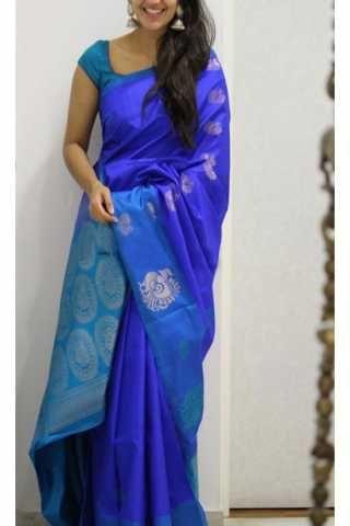 7191f54d0 Modish Blue Color Soft Silk Designer Sarees - CND1212