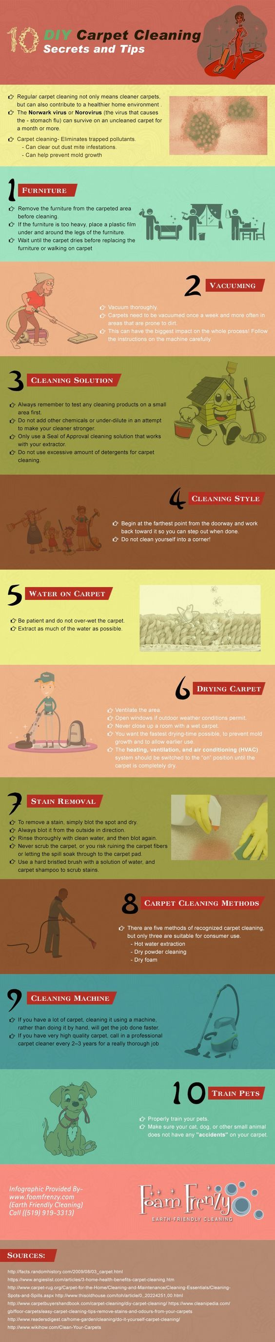 10 must know diy carpet cleaning secrets tips
