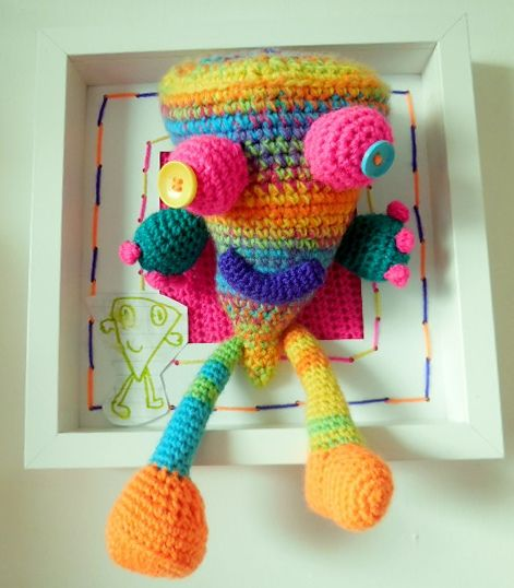 Monster designed by Stella and crocheted by Lyndsay McFarlane of Loopy Lou Designs - one of my favourite concepts!Crochet Dolls, Crochet Animal, Child Drawing, Lou Design, Lyndsay Mcfarlane, Crochet Critter, Monsters Design, Dolls Animal, Loopy Lou