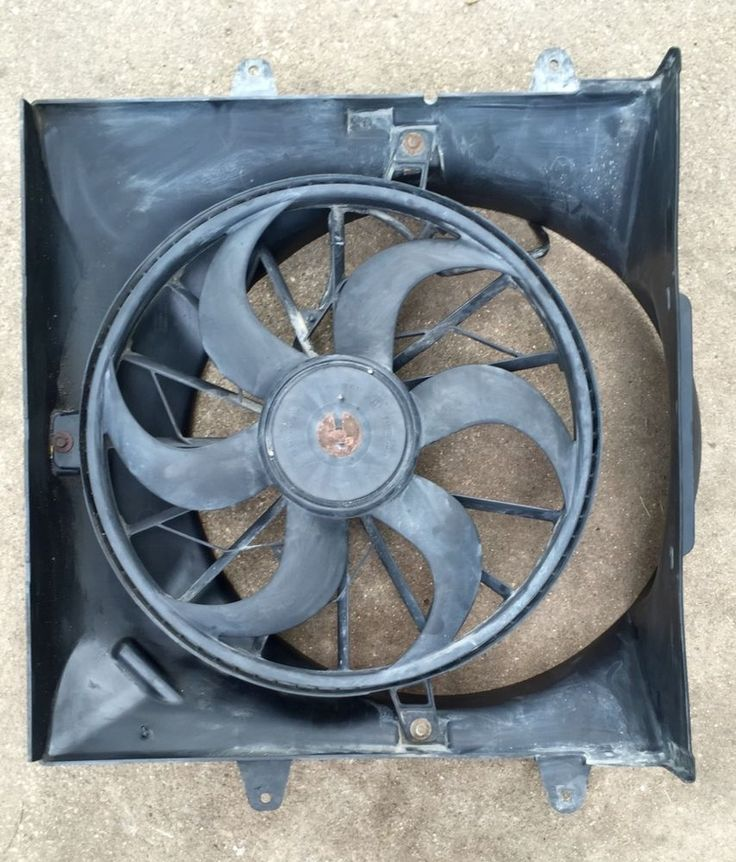 1999-2004 Jeep Grand Cherokee 4.0 Radiator Electric Cooling Fan Assembly Shroud