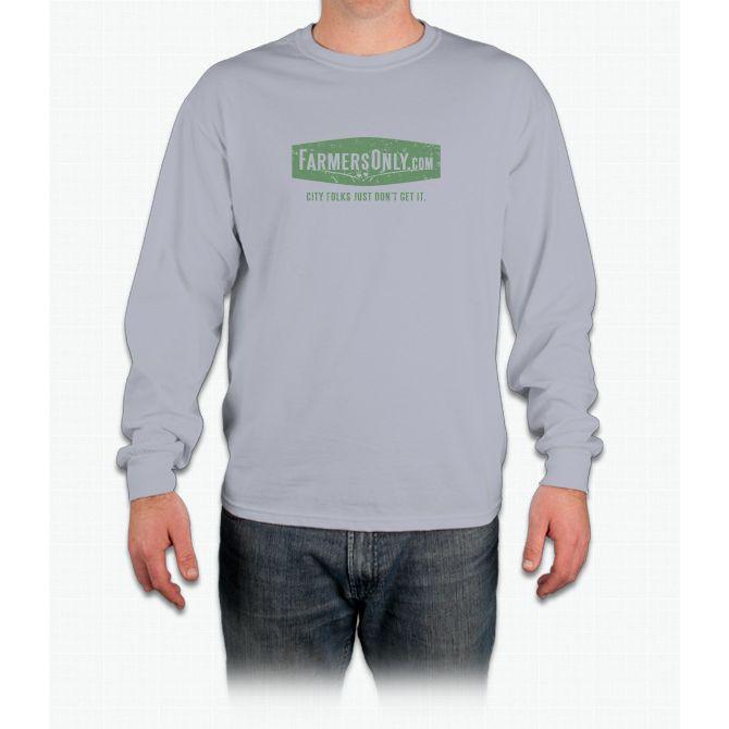 Farmers Only (green logo) Long Sleeve T-Shirt