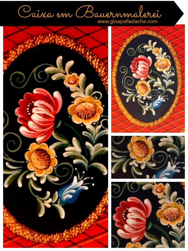 Atelier Gina Pafiadache: Caixa em Bauernmalerei + Risco