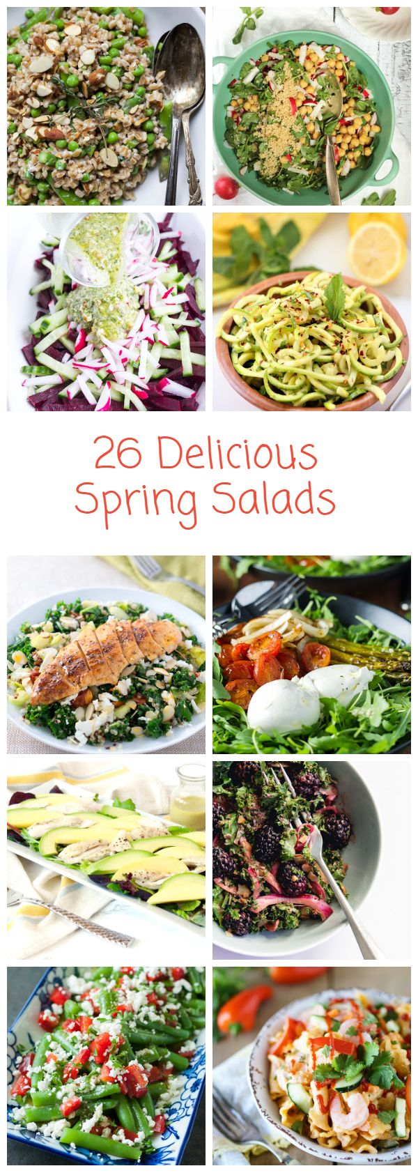 Delicious salad #recipes to use up all those spring veggies