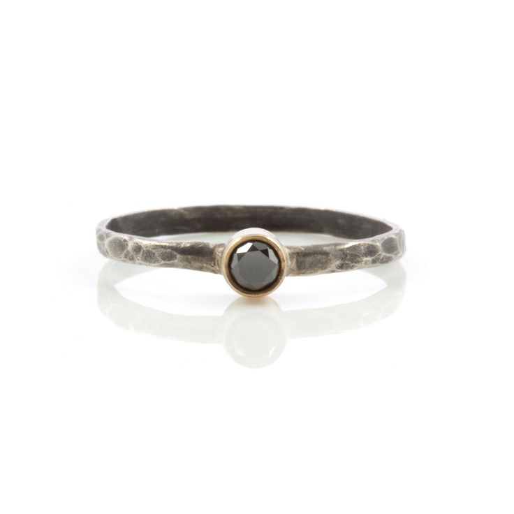 Stacking Ring Black Diamond