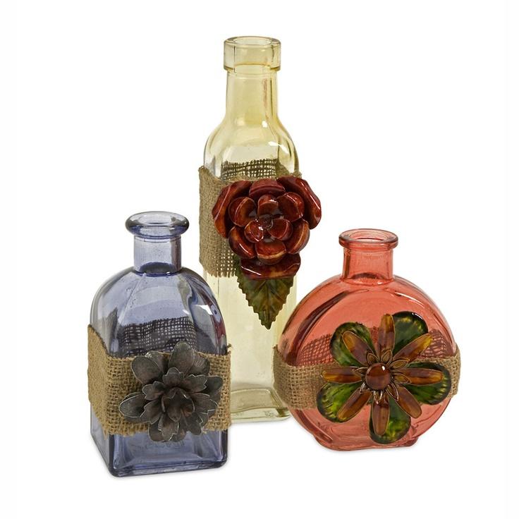 203 best glass images on pinterest crystals glass for Designer glass jars