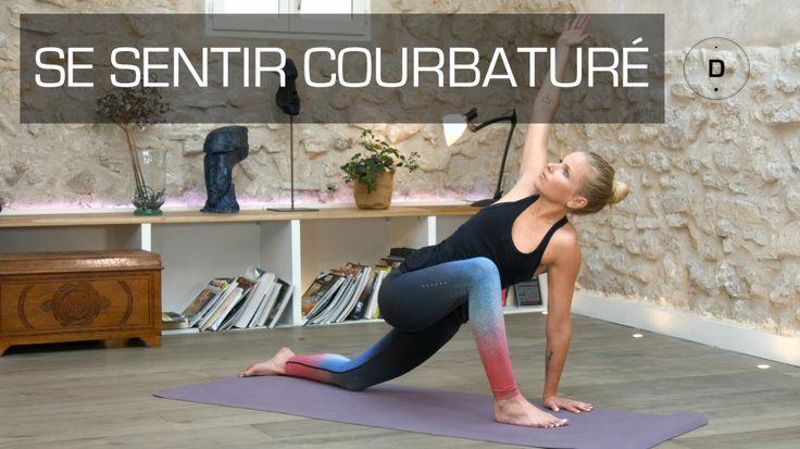 Vous êtes courbaturé? Sandrine Bridoux, professeur de Yoga, vous propose des postures de yoga pour vous détendre et soulager les courbatures.