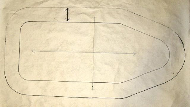 No need to buy a new ironing board cover when you can easily sew yourself a new ironing board cover that will be better than any ironing board cover you can buy. These step by step directions will guide you through sewing an ironing board cover this is custom made for your ironing board whether it is a small, large or extra wide ironing board.: Make the Pattern Piece