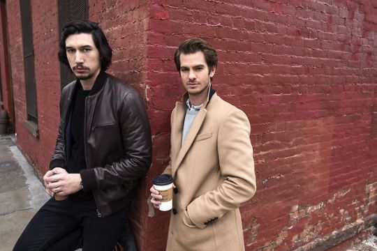 Adam Driver & Andrew Garfield for Time Out    Photography by: Jake Chessum