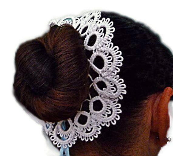 Beaded Hair Bun Deco Hair Band Black Dance Ballet