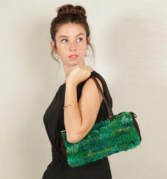 Groene kleine schouder handtas-groene van CarolineMazurik op Etsy