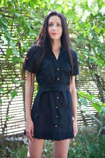 Shirt dress#cotton fabric