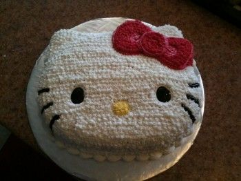 Hello Kitty cake! So glad I have this cake pan!