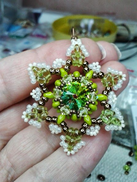 Perlinando ...: TUTORIAL ORECCHINI STELLA ( beaded star tutorial- in Italian but lots of pictures :-)