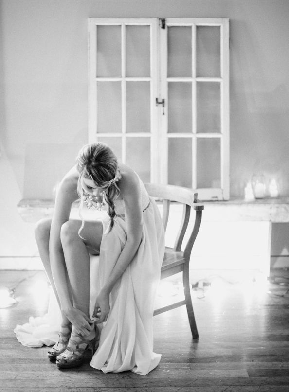 beautiful moment - girls sit and put on your own shoes - much better photos.
