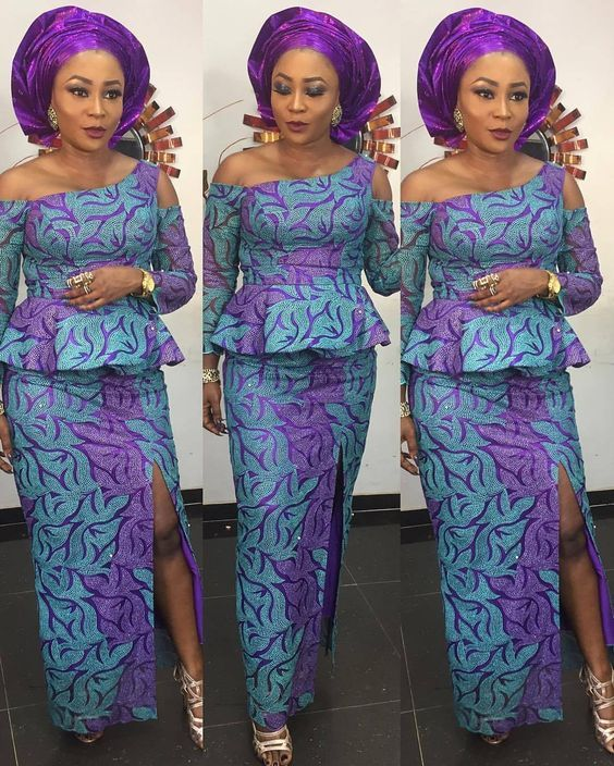 Trendy Ankara Peplum Blouse Styles With Straight Fitted Skirts For