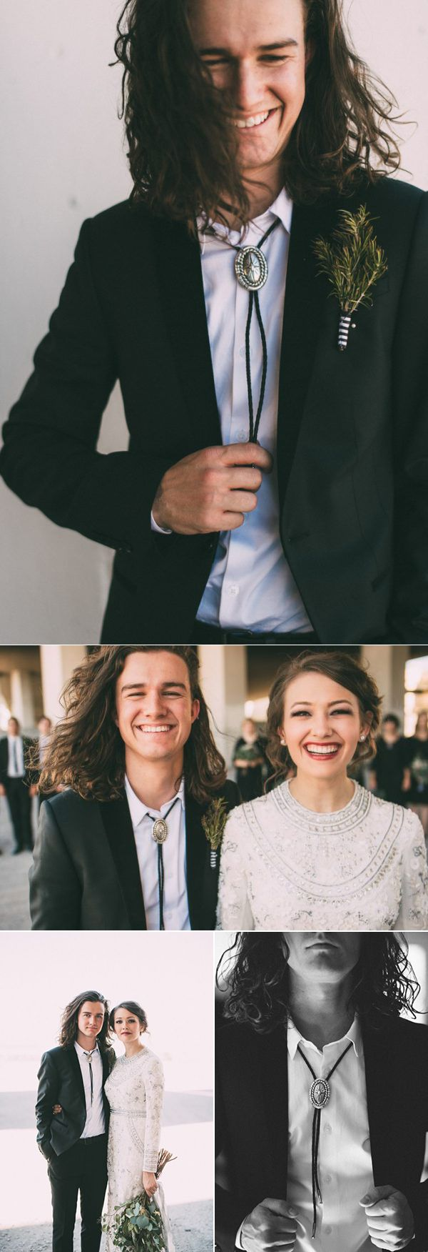 Bolo ties are an easy way to transform your groom into a rockstar | photos by The Image Is Found